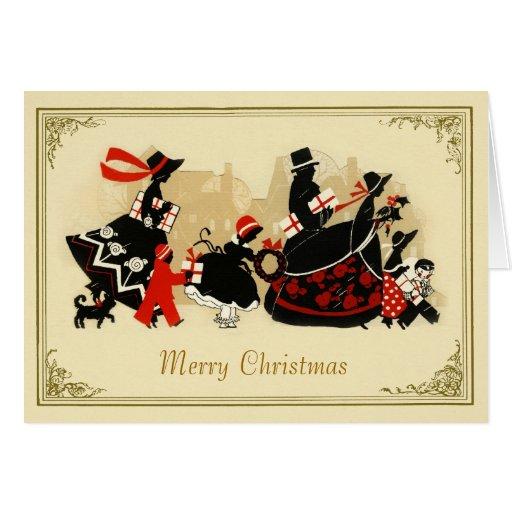 Vintage 1920s Design Christmas Holiday Card | Zazzle