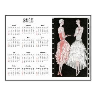 Vintage 1920's Fashion 2015 Calendar Postcard