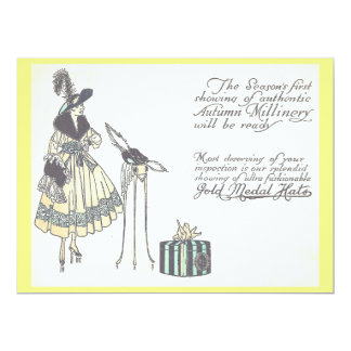 Vintage 1920s Hat Millinery Show Advertisement Card