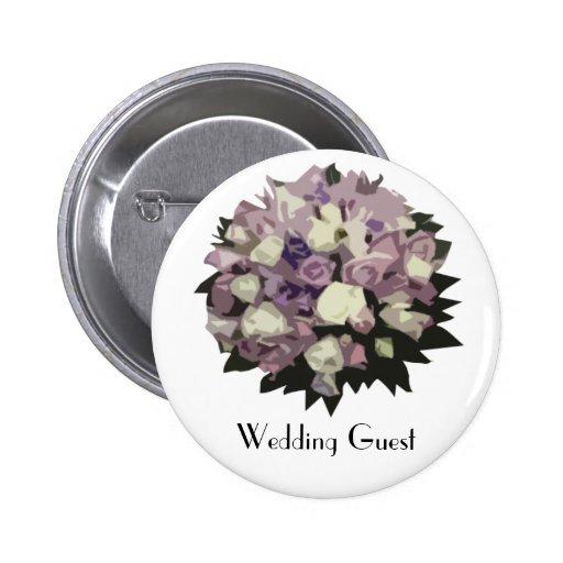 Vintage 1920s Wedding Guest Badge 2 Inch Round Button