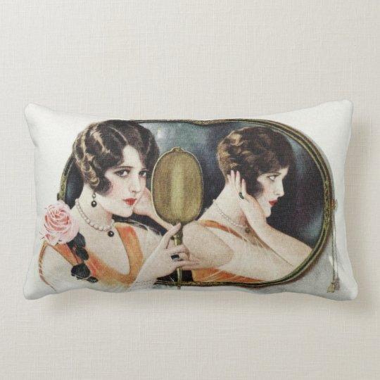 Vintage 1920s Woman Lumbar Pillow