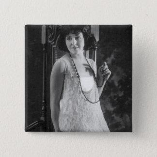 Vintage 1920s Women's Flapper Fashion 2 Inch Square Button