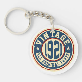 Vintage 1921 All Original Parts Single-Sided Round Acrylic Keychain