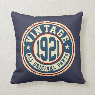Vintage 1921 All Original Parts Throw Pillow
