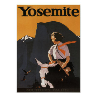 Vintage 1923 Yosemite Southern Pacific Poster
