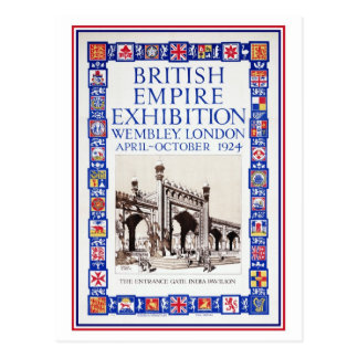 Vintage 1924 British Empire Exhibition advert Postcard