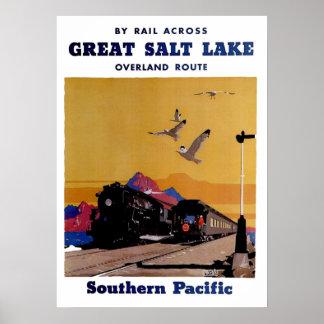 Vintage (1927) Great Salt Lake Overland Route Poster