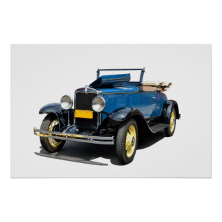 Vintage 1930 Chevy Convertible Automobile Poster