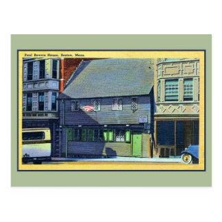 Vintage 1930s-1940s Paul Revere House Boston MA Postcard