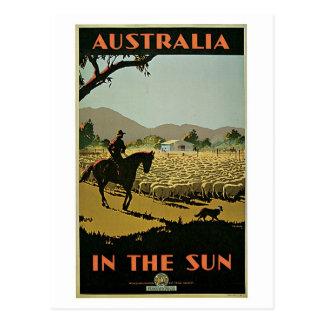 Vintage 1930s Australia travel advert Postcard