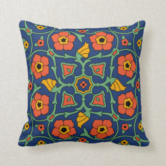 Vintage 1930s Catalina Island Tile Design Pillow