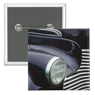 Vintage 1930s Classic Car Grill Photo 2 Inch Square Button