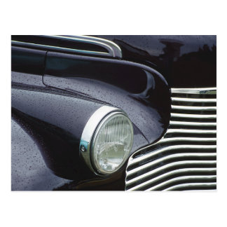 Vintage 1930s Classic Car Grill Photo Postcard