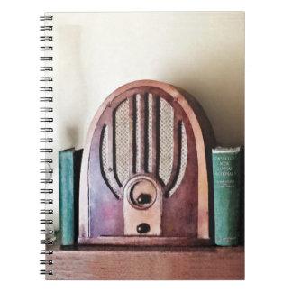 Vintage 1930s Radio Spiral Notebook