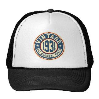 Vintage 1931 All Original Parts Trucker Hat