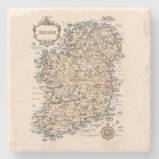 Vintage 1931 Ireland map gift idea Stone Coaster