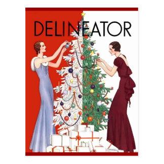 Vintage 1932 Christmas Postcard
