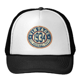 Vintage 1934 All Original Parts Trucker Hat