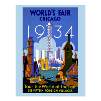 vintage 1934 Chicago World's fair Postcard