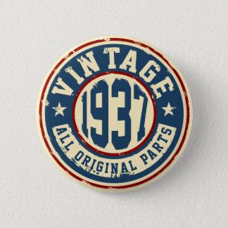 Vintage 1937 All Original Parts 2 Inch Round Button