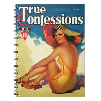 Vintage 1937 True Confession Notebook