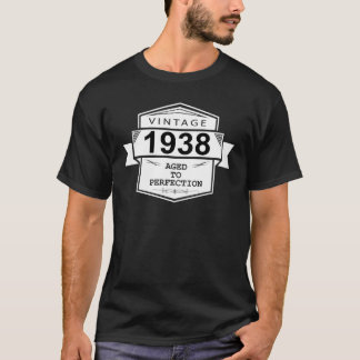 Vintage 1938 Aged To Perfection. Gift Birthday T-Shirt
