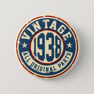 Vintage 1938 All Original Parts 2 Inch Round Button