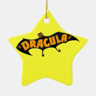 Vintage 1938 Dracula Vampire Bat Ceramic Star Ornament