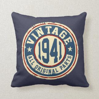 Vintage 1941 All Original Parts Throw Pillow