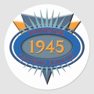 Vintage 1945 classic round sticker
