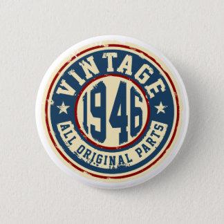 Vintage 1946 All Original Parts 2 Inch Round Button