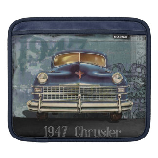 Vintage 1947 Chrysler Car, iPad Horizontal Sleeve