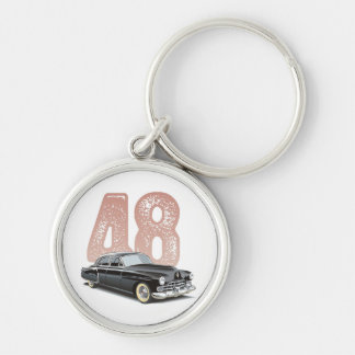 Vintage 1948 Cadillac Coupe: Black classic car Keychain
