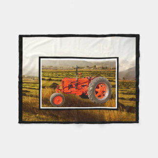 Vintage 1948 Case DC Tractor Fleece Blanket