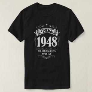 Vintage 1948 Funny 70th Birthday Mens Shirt