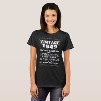 VINTAGE 1949-LIVING LEGEND T-Shirt