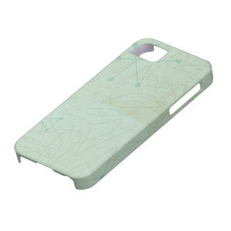 Vintage 1950s Atomic Age Pattern iPhone Case