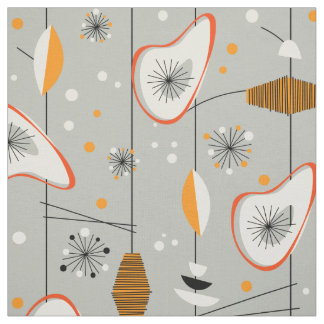 Vintage 1950s Atomic Mid-Century Modern Design Fabric
