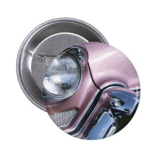Vintage 1950s Chrome Car Grill Photograph 2 Inch Round Button