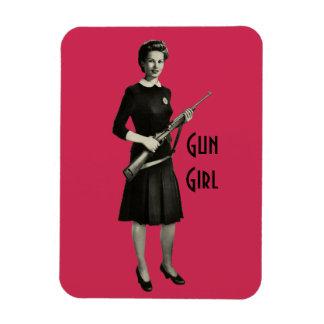 Vintage 1950s Era Gun Gal Rifle Home Office Magnet