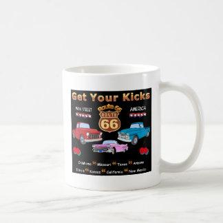 Vintage 1950s  Route 66 Basic White Mug