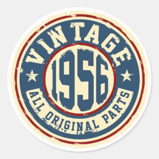 Vintage 1956 All Original Parts Classic Round Sticker