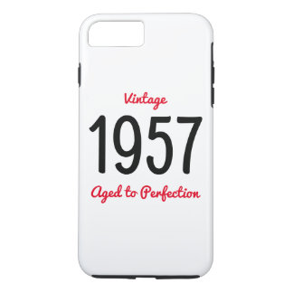 Vintage 1957 Aged To Perfection Birthday Gift iPhone 8 Plus/7 Plus Case
