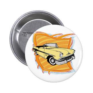 Vintage 1957 Pontiac Muscle Car 2 Inch Round Button