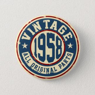 Vintage 1958 All Original Parts 2 Inch Round Button