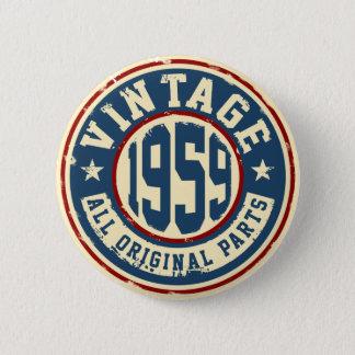 Vintage 1959 All Original Parts 2 Inch Round Button