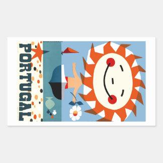 Vintage 1959 Portugal Seaside Travel Poster