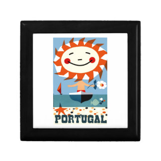 Vintage 1959 Portugal Seaside Travel Poster Gift Box