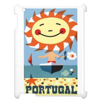 Vintage 1959 Portugal Seaside Travel Poster iPad Cover