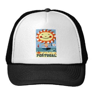 Vintage 1959 Portugal Seaside Travel Poster Trucker Hat